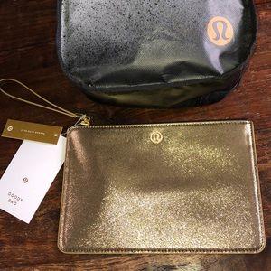*NWT* LULULEMON Goody Bag in Metallic Gold